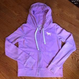Pink by Victoria secret purple zip up hoodie